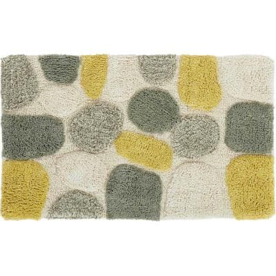 Pebbles New Willow 20 in. x 32 in. Cotton 2-Piece Bath Rug Set
