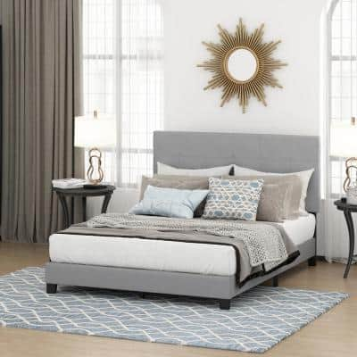 Laval Glacier Queen Button Tufted Bed Frame