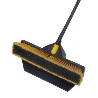 18 in. 2 in 1 Broom Shovel Dust Pan and Multi-Surface Push Broom