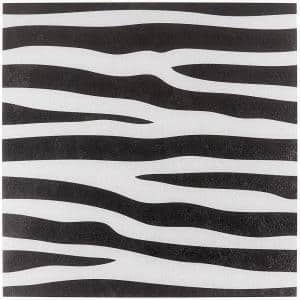 Kaa Zebra Black and White 24 in. x 24 in. Matte Porcelain Floor and Wall Tile (3 Pieces/11.62 sq. ft./Case)