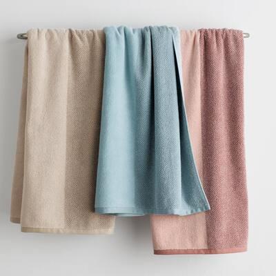 Dual Color Organic Cotton Fingertip Towel (Set of 2)