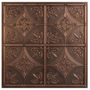 Basilica 2 ft. x 2 ft. Lay-in or Glue-up Ceiling Tile in Antique Bronze (40 sq. ft. / case)