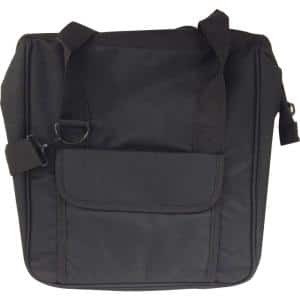 4 in. Canvas Bag, Black