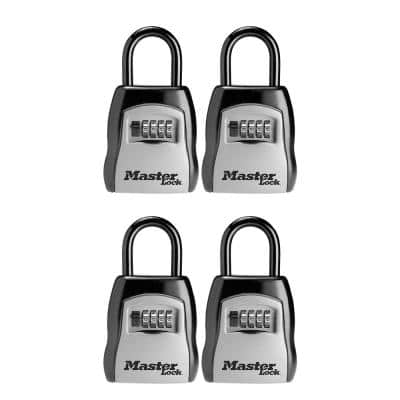 3-1/4 in. (83 mm) Wide Set Your Own Combination Portable Lock Box (4-Pack)