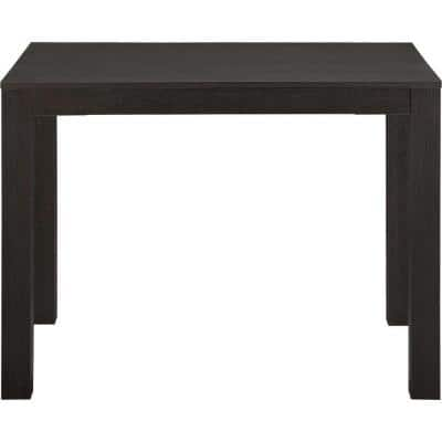 Nelson 39 in. Rectangular Black Oak Writing Desk with Drawer