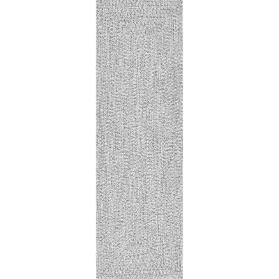 Lefebvre Casual Braided Salt & Pepper 3 ft. x 6 ft. Indoor/Outdoor Runner