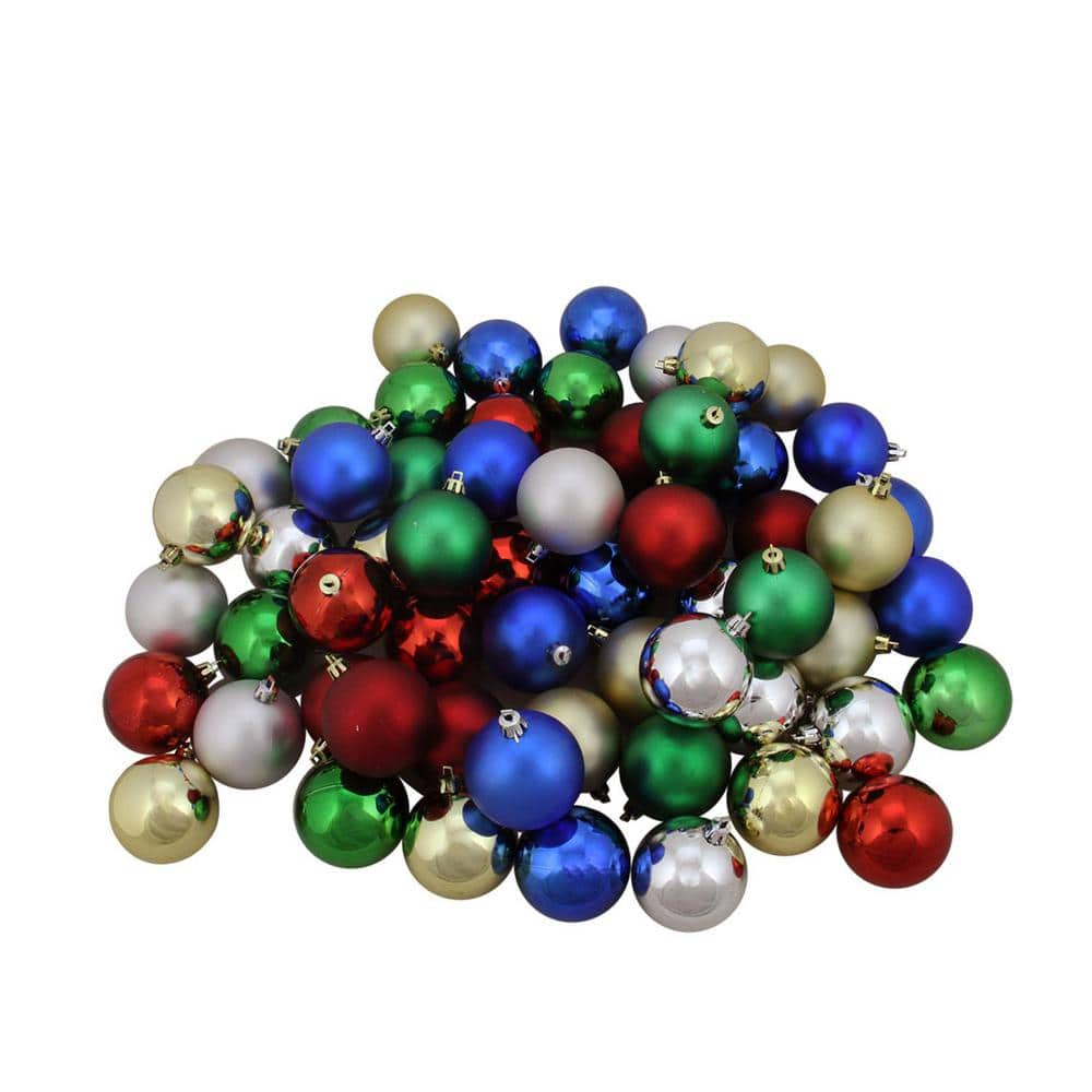 Northlight Traditional Multi Color Shiny and Matte Shatterproof Christmas  Ball Ornaments 20 Count 31755203   The Home Depot