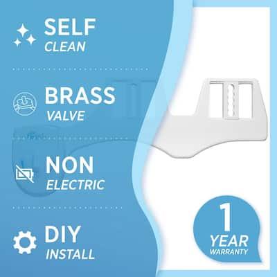 Non-Electric Fresh Water Spray Bidet Attachment in White