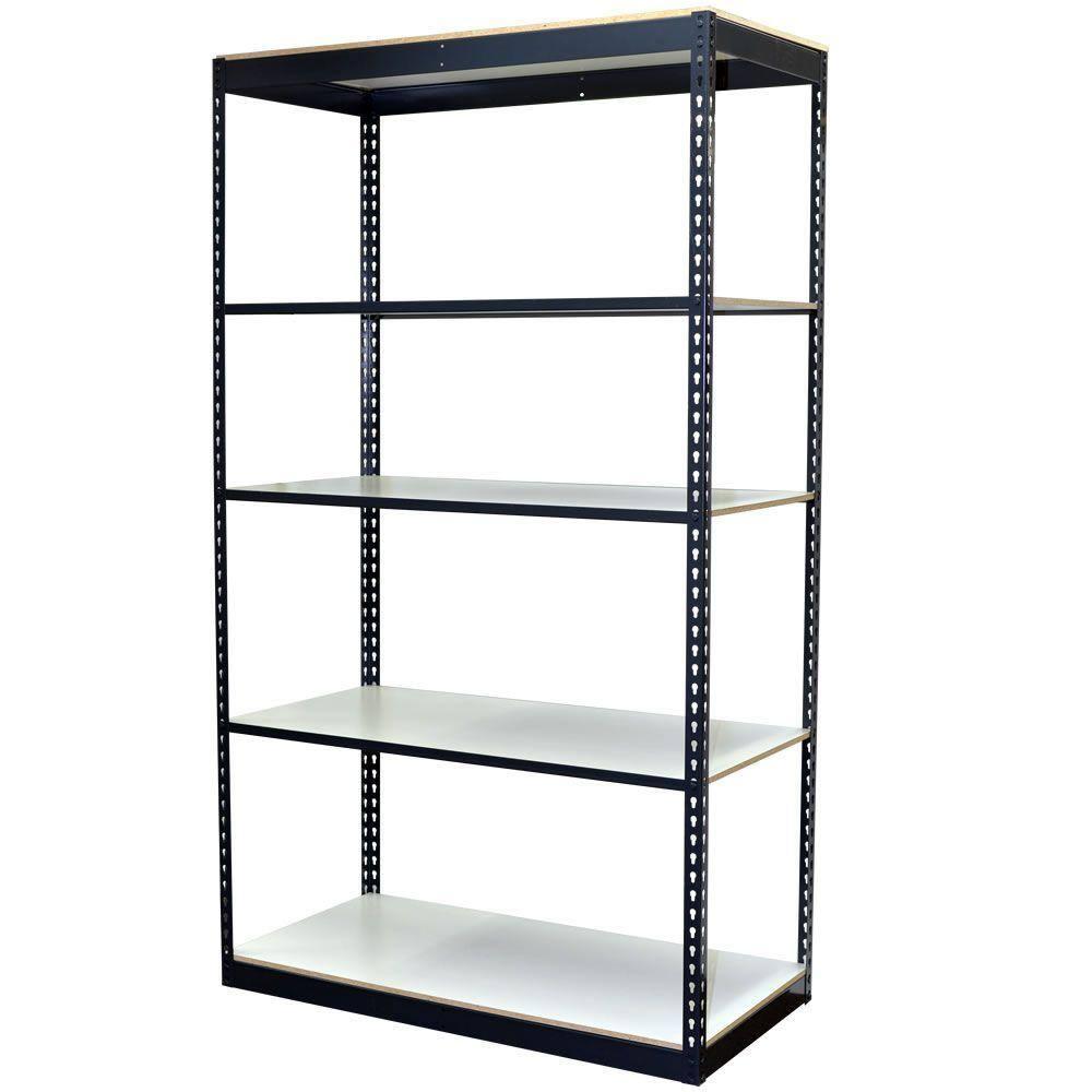 Storage Concepts 5 Tier Boltless Steel Garage Storage Shelving Unit 48 In W X 84 In H X 18 In D P2a5 4818 84l The Home Depot