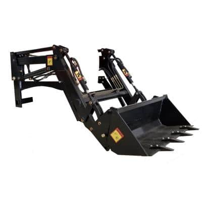 Bucket Loader for DK2 Power Diesel Powered Tractor with 400 lbs. Load and 3.5 cu. ft. Bucket Capacity