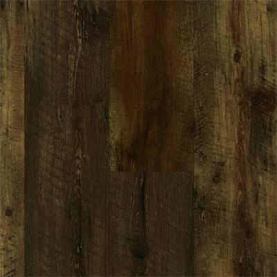 Luxe w/ Rigid Core 7 in. W Rugged Brown Waterproof Click Lock Luxury Vinyl Plank Flooring (28.52 sq. ft./case)