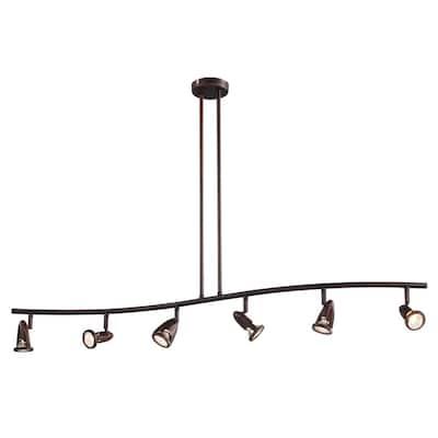 Stingray 4 ft. 6-Light Rubbed Oil Bronze Track Lighting Kit