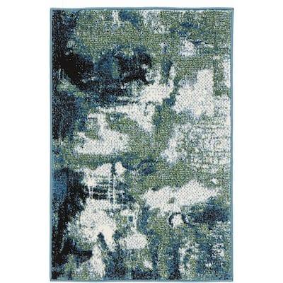 Journey Blue/Green 2 ft. x 3 ft. Scatter Rug
