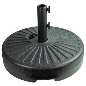 Patio Premier 5 lbs. Round Plastic Patio Umbrella Base in Black