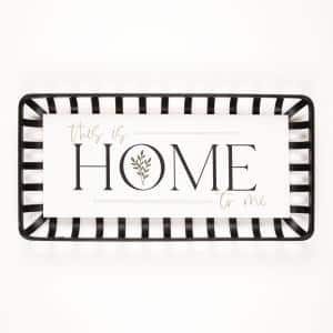 This Is Us Home To Me White Metal/Wood Individual Wall Art