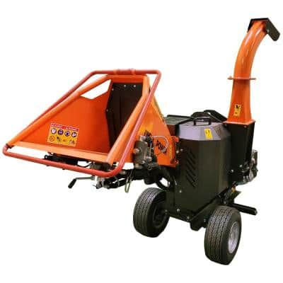 5 in. 14 HP Gas Powered Kohler Engine Chipper Shredder with Electric Start, Auto-Feed, and DOT Road Legal Tires