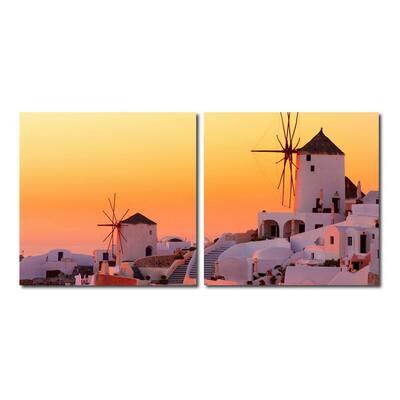 Grecian Crossroads Frameless Canvas Wall Art