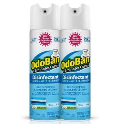 14.6 oz. Fresh Linen Disinfectant Spray, Sanitizer, Fabric Freshener, Air Freshener, Multi-Purpose Cleaner (2-Pack)