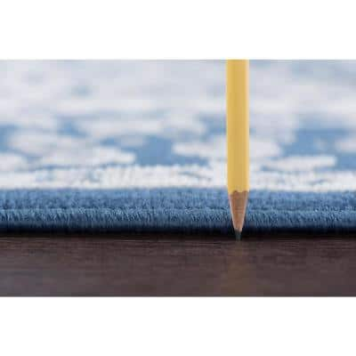 Madison Navy 8 ft. x 10 ft. Area Rug