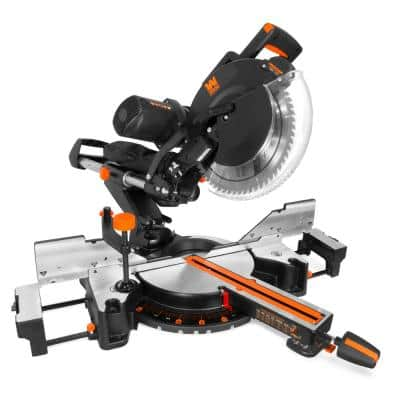 12 in. 15 Amp Dual Bevel Sliding Compound Miter Saw with Laser