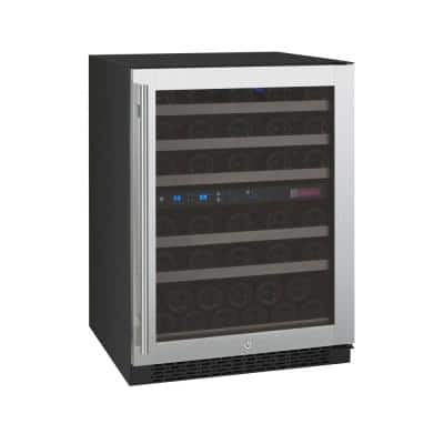 FlexCount Dual Zone 56-Bottle Stainless Steel Right Hinge Wine Refrigerator