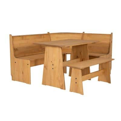 Linon Home Décor - Products Jennings Natural Corner Breakfast Nook Dining Set