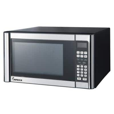 1.1 cu. ft. Countertop Microwave in Stainless with One Touch Cooking Menus
