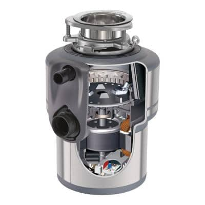 Evolution Excel Quiet Series 1 HP Continuous Feed Garbage Disposal with SilverSaver Sink Stopper