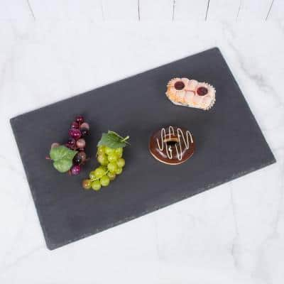 Natural Slate Stone 12 in. x 20 in. Rectangular Serving Board Cheese Platter Dinning Serving Board