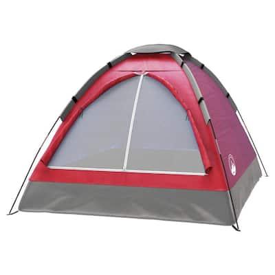 2-Person Brick Red Happy Camper Tent