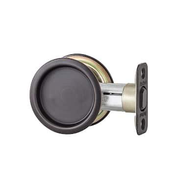 334 Passage Venetian Bronze Round Pocket Door Lock