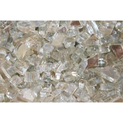 10 lbs. Bag Reflective Fire Pit Fire Glass in Crystal