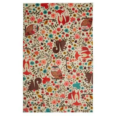 Enchanted Forest Multi 8 ft. x 10 ft. Whimsical Area Rug