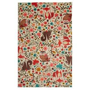 Enchanted Forest Multi 10 ft. x 14 ft. Whimsical Area Rug