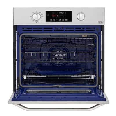 29.75 in. Smart Single Electric Wall Oven with Convection Self-Cleaning in Stainless Steel