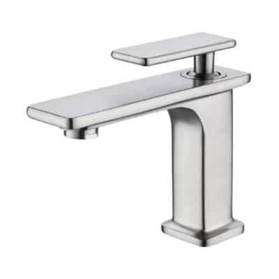 7.4 in. Single Hole Single-Handle Lever Vessel Bathroom Faucet in Chrome