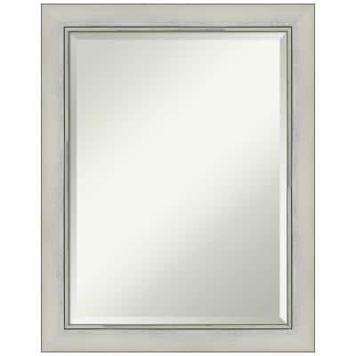 Medium Rectangle Flair Silver Beveled Glass Modern Mirror (28 in. H x 22 in. W)