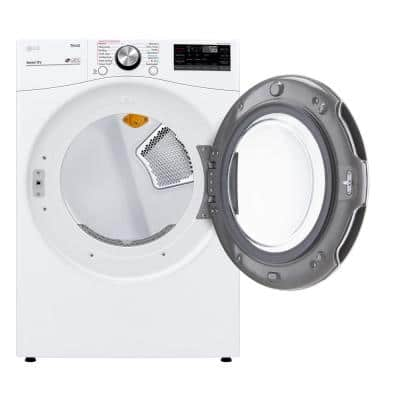 7.4 cu. ft. White Ultra Large Capacity Gas Dryer with Sensor Dry Turbo Steam