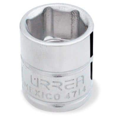 1/4 INCH DRIVE 6-POINT 7/16 INCH CHROME SOCKET