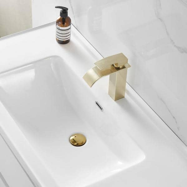 Vaorwne Basin Bottle Trap Metal Bathroom Sink Siphon Drains with Drain Black P-Trap Pipe Waste Without Overflow