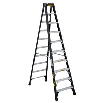 10 ft. Fiberglass Step Ladder(14.2 ft. Reach), 300 lbs. Load Capacity Type IA