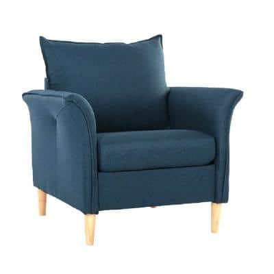 Living Room chair Modern Fabric Arm Chair, Dark Blue 1-Piece