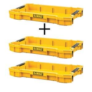 TOUGHSYSTEM 2.0 Shallow Tool Tray with (2) TOUGHSYSTEM 2.0 Shallow Tool Trays