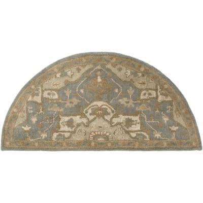 Demetrios Moss 2 ft. x 4 ft. Hearth Indoor Area Rug
