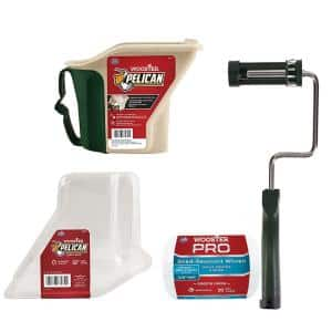 4 in. Sherlock Roller Frame, 4 in. x 3/8 in. Woven Roller Cover, 1 qt. Pelican Pail and 1 qt. Pelican Liner (3-Pack)