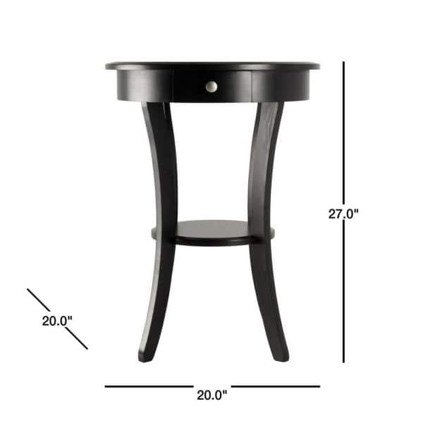 Winsome Sasha Round Accent Table 20227, Round Accent Tables