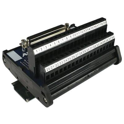 D-Sub Interface Module DIN Rail Mount 37-Pin Female