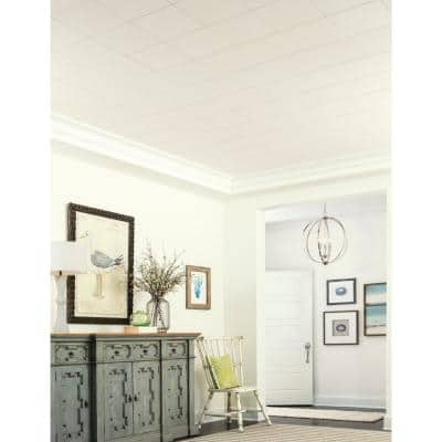 Washable White 1 ft. x 1 ft. Clip Up or Glue Up Ceiling Tile (1,920 sq. ft. / pallet)