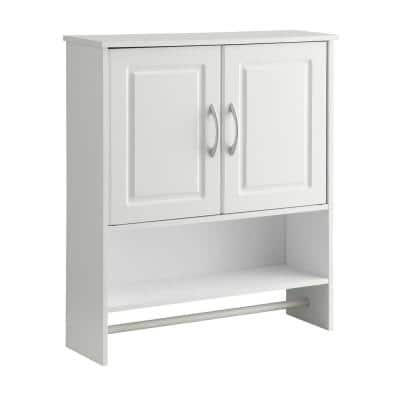 Vineland Ready to Assemble 25 in. W x 7.13 in. D x 28.7 in. H Hanging Space Saver Cabinet White