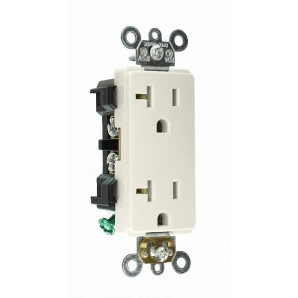 White Decora Plus 20 Amp Switch 10-Pack
